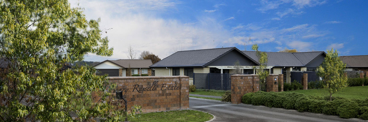 Henry Russell Estate - Gated Community in Waipukurau, Central Hawkes Bay, sections available now for sale.