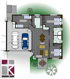 Rata (double garage, version 1) - Henry Russsell Estae home for sale with single bathroom, two bedroom, and double garage, version one. Thumbnail